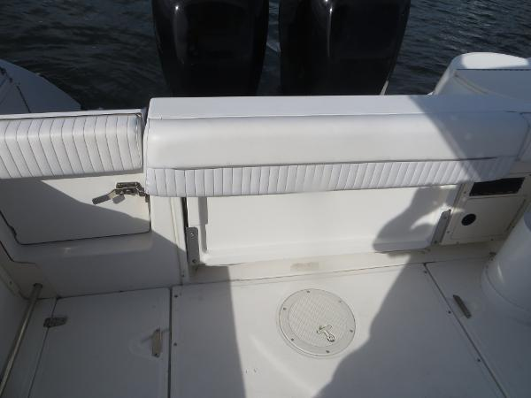 26 outrage stern back rest and transom door
